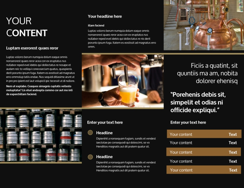 Brewery Tour Brochure Template Preview 3