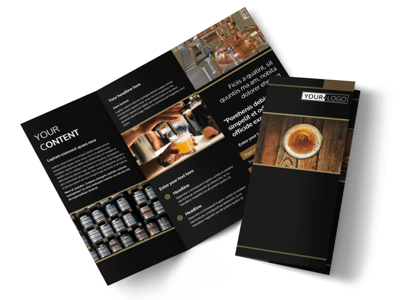 Brewery Tour Brochure Template Preview 1