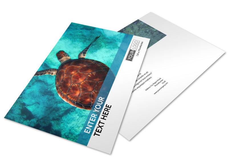 Scuba Diving Postcard Template