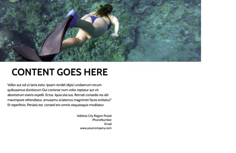Scuba Diving Postcard Template Preview 3