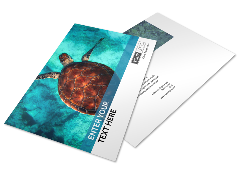 Scuba Diving Postcard Template Preview 1