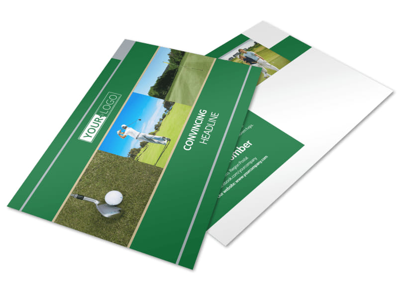 Perfect Swing Golf Tournament Postcard Template Preview 4