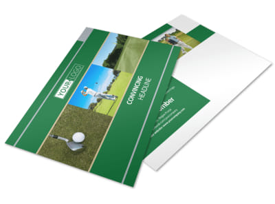 Perfect Swing Golf Tournament Postcard Template