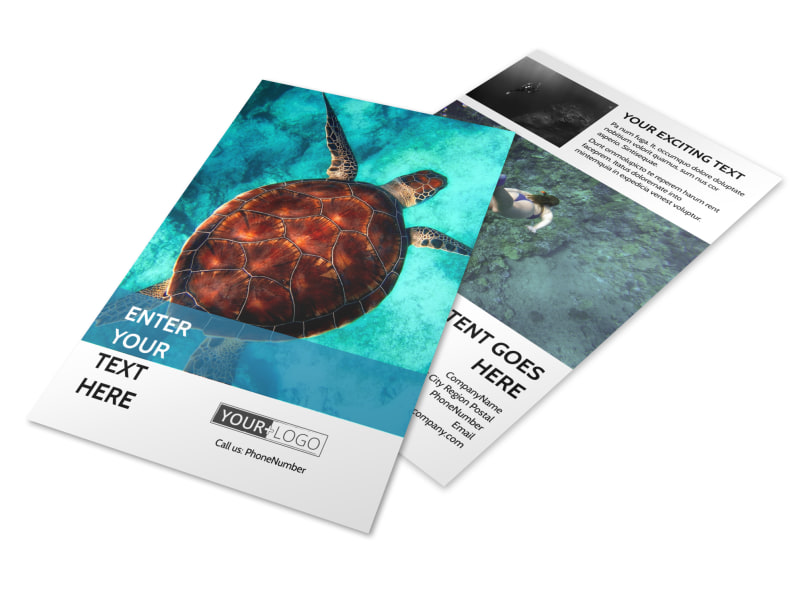 Scuba Diving Flyer Template 3