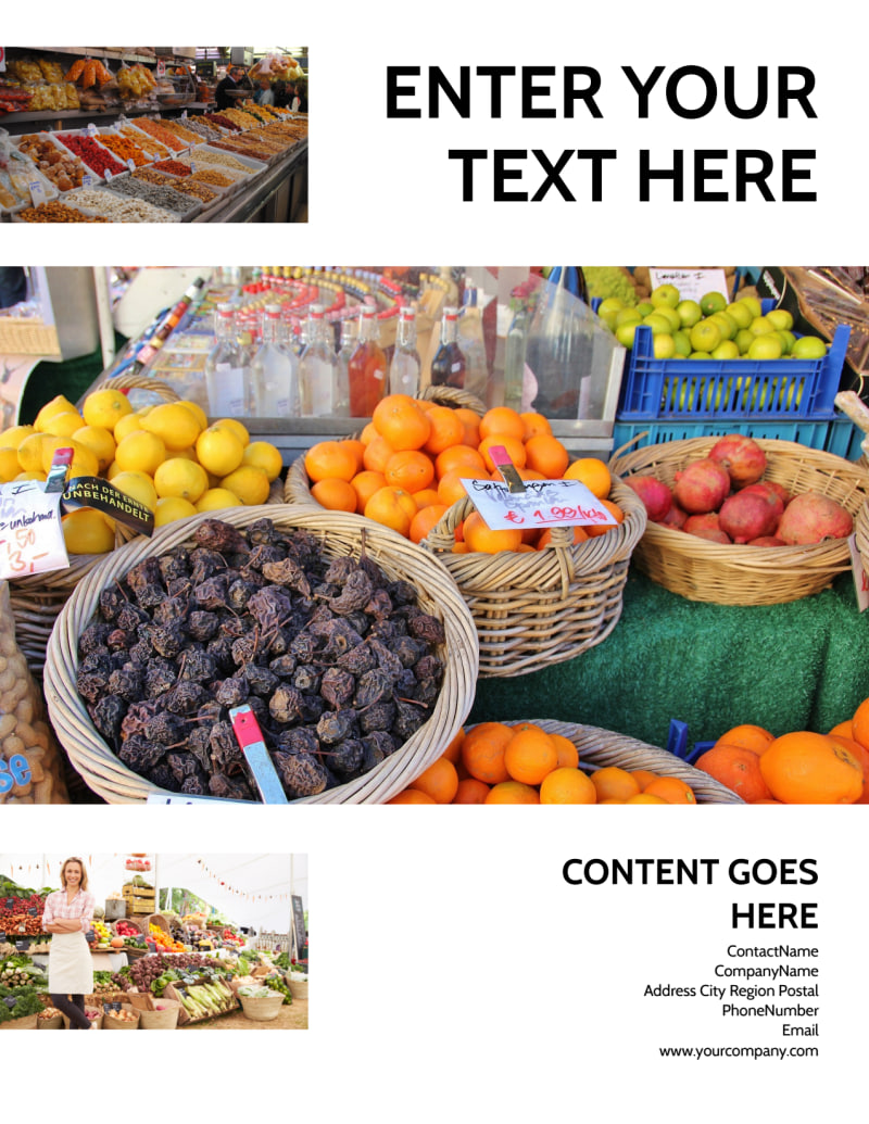 Local Produce Market Flyer Template Preview 3