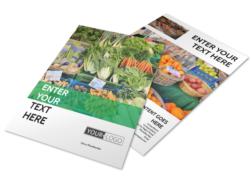 Local Produce Market Flyer Template Preview 1