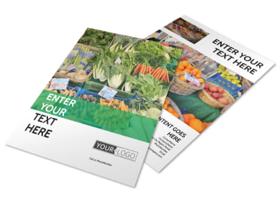 Local Produce Market Flyer Template preview