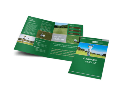 Perfect Swing Golf Tournament Bi-Fold Brochure Template