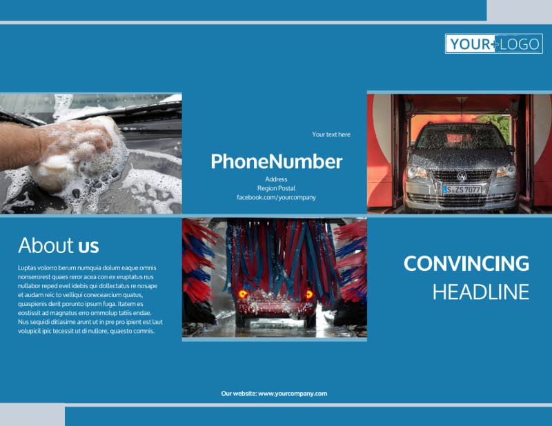 Bubbly Car Wash Brochure Template Preview 2