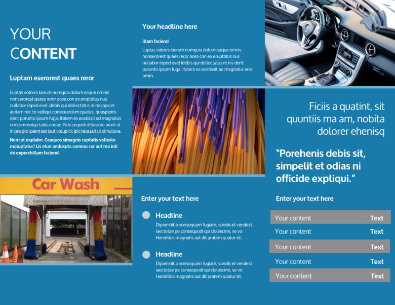 Bubbly Car Wash Brochure Template Preview 3