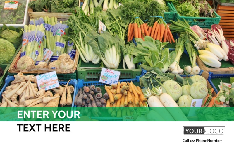 Local Produce Market Postcard Template Preview 2