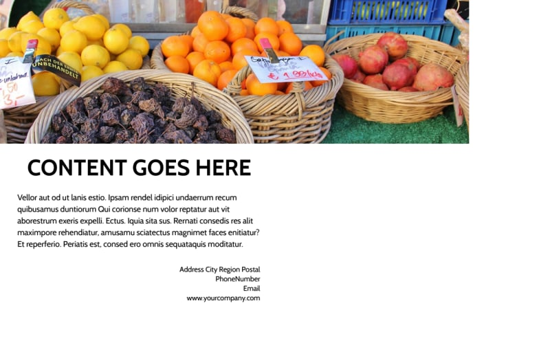 Local Produce Market Postcard Template Preview 3