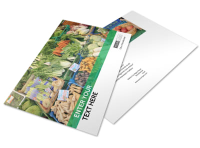 Local Produce Market Postcard Template preview
