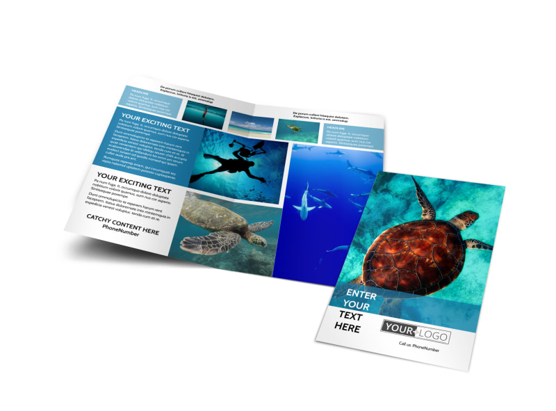Scuba Diving Bi-Fold Brochure Template