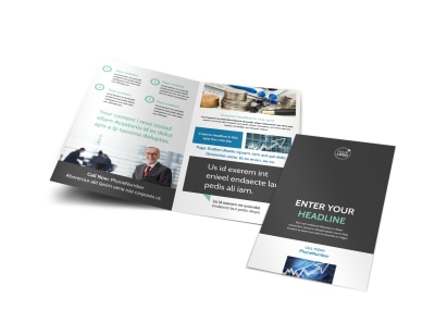 Financial Planner Bi-Fold Brochure Template
