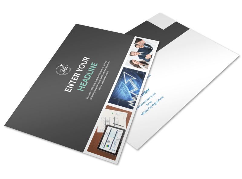 Financial Planning Service Postcard Template Preview 1