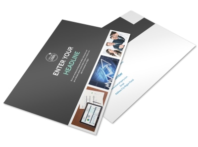 Financial Planner Postcard Template preview