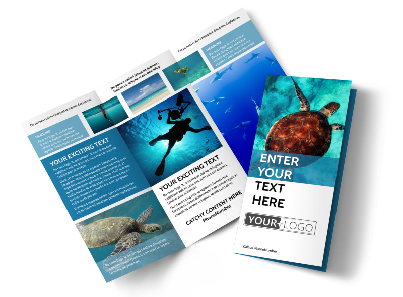 Scuba Diving Brochure Template Mycreativeshop