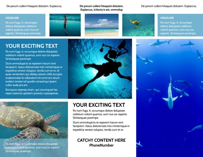 Scuba Diving Brochure Template Preview 3