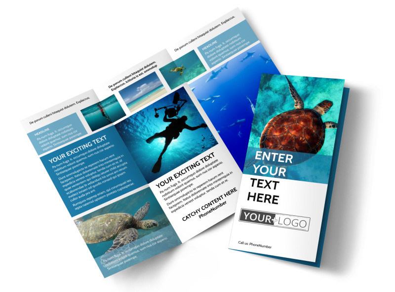 Scuba Diving Brochure Template Preview 1