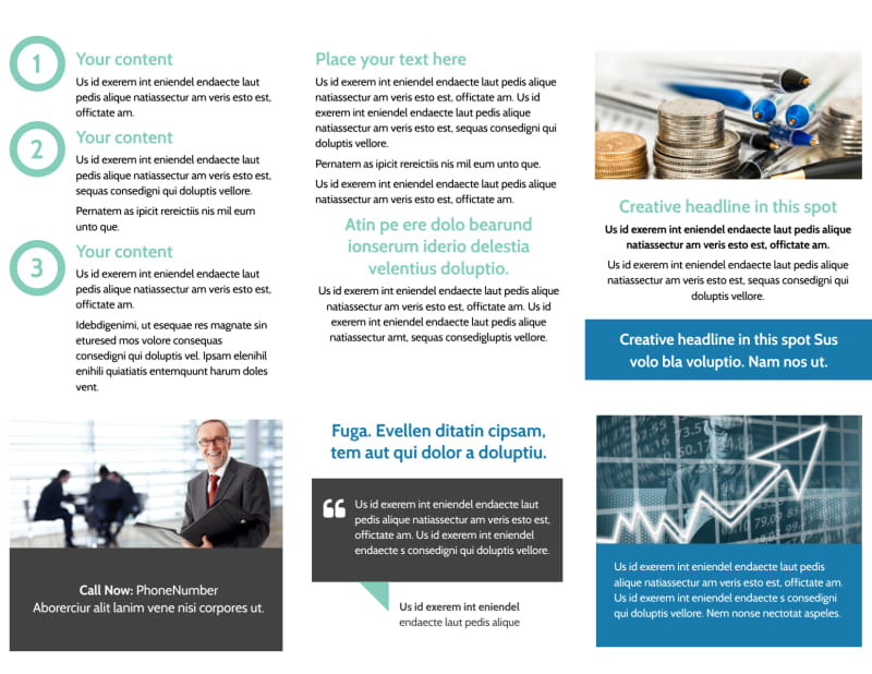 Financial Planning Service Brochure Template Preview 3