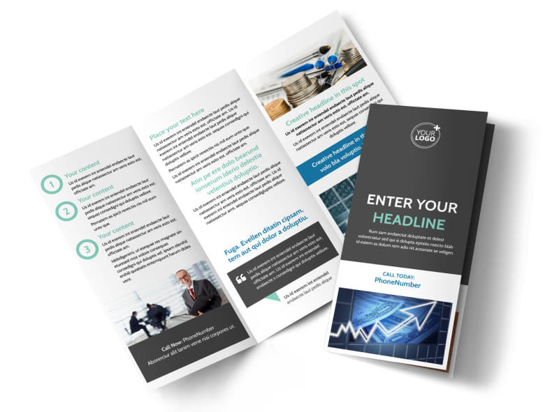 Financial Planner Tri-Fold Brochure Template