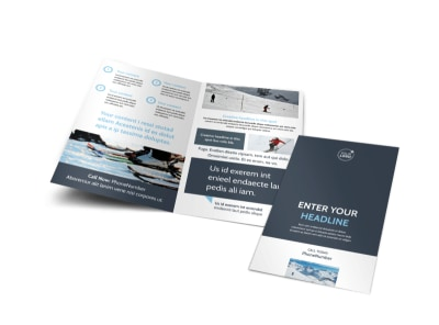 Ski & Snowboard Instructor Bi-Fold Brochure Template