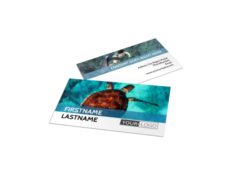 Scuba Diving Business Card Template Preview 4