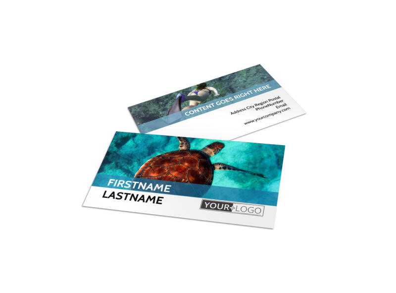 Scuba Diving Business Card Template Preview 1