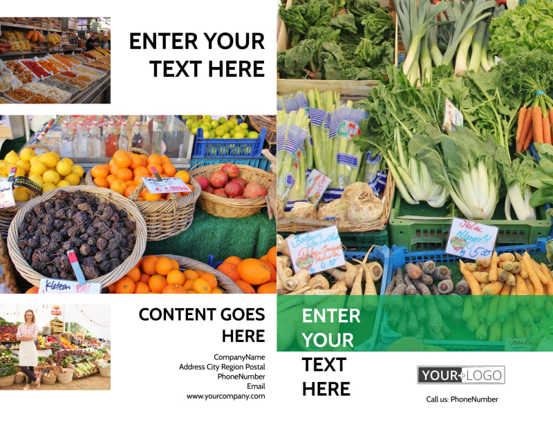 Local Produce Market Brochure Template Preview 2