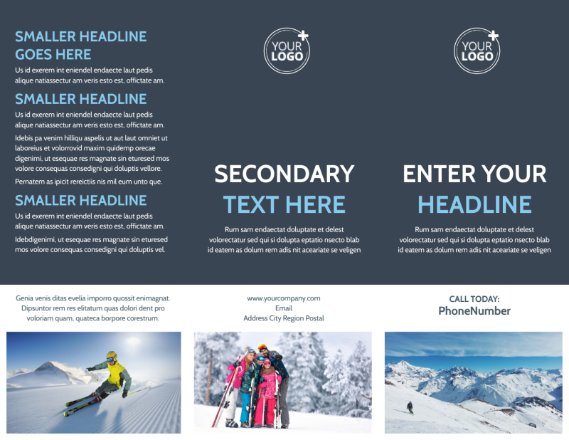 Ski Instructor Brochure Template Preview 2
