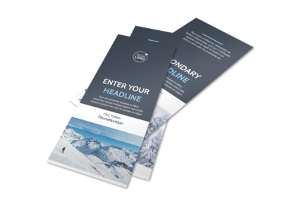 Ski & Snowboard Instructor Flyer Template 2