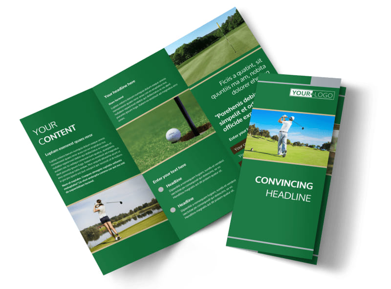 Perfect Swing Golf Tournament Brochure Template MyCreativeShop - Golf brochure template