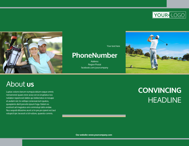 Perfect Swing Golf Tournament Brochure Template Preview 2