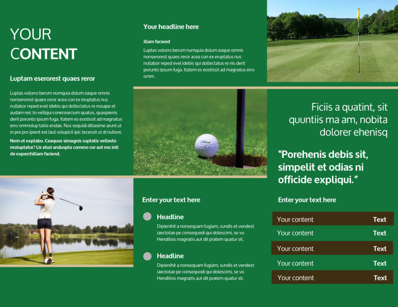 Perfect Swing Golf Tournament Brochure Template Preview 3