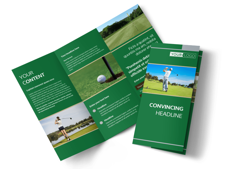 Perfect Swing Golf Tournament Brochure Template Preview 1