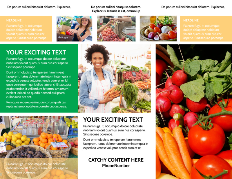 Local Produce Market Brochure Template Preview 3