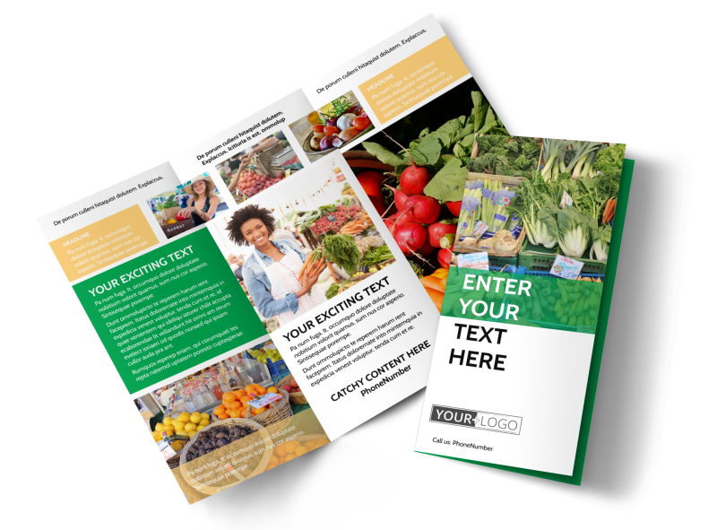 Local Produce Market Brochure Template Preview 1