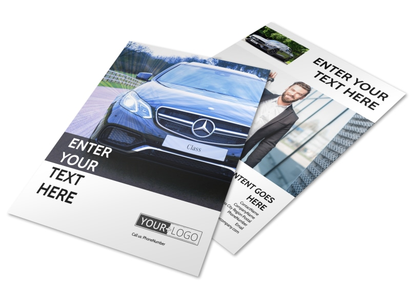 Luxury Auto Dealer Flyer Template