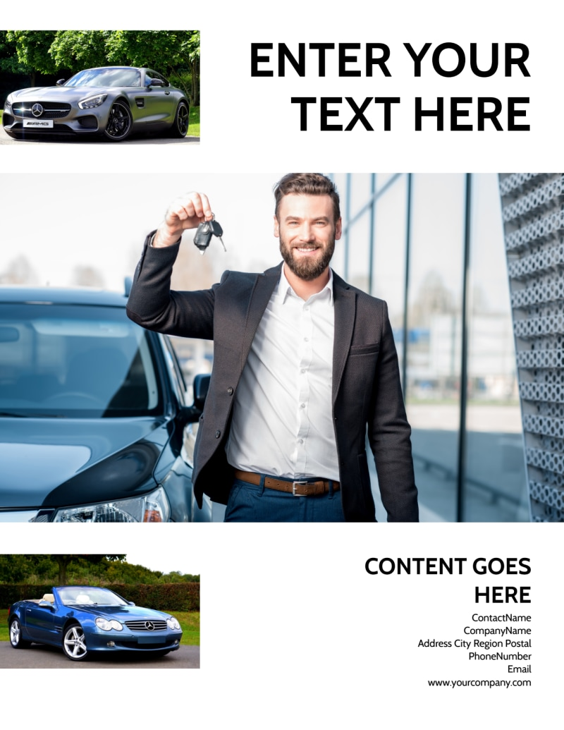 Luxury Auto Dealer Flyer Template Preview 3