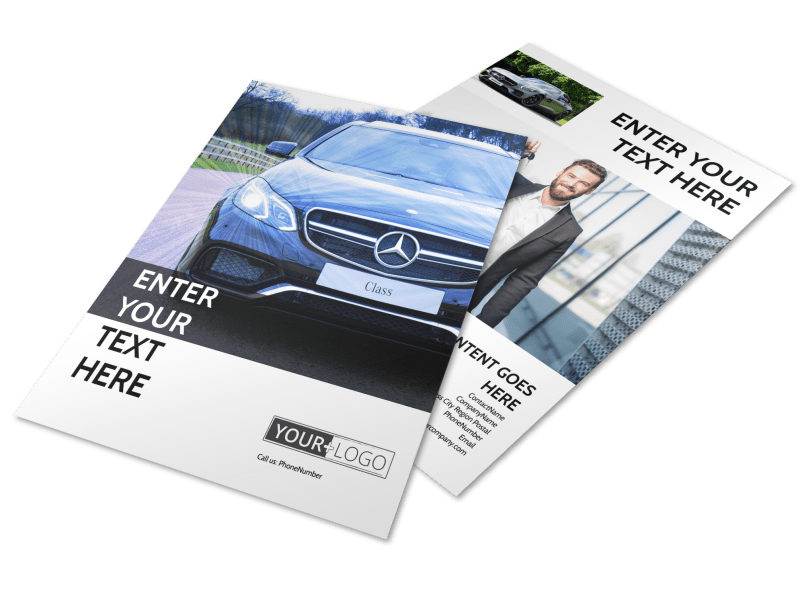 Luxury Auto Dealer Flyer Template Preview 1