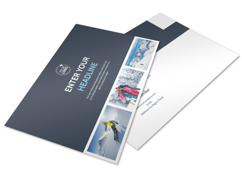 Ski Instructor Postcard Template Preview 4