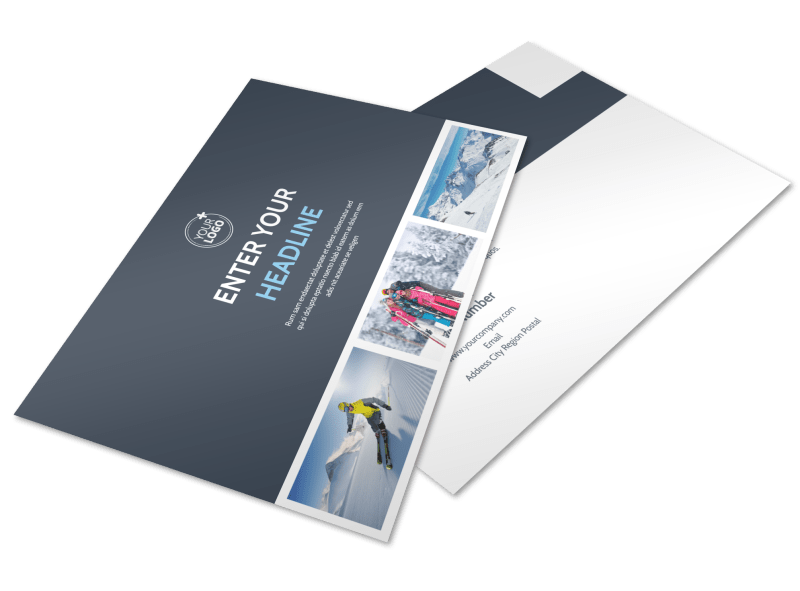 Ski Instructor Postcard Template Preview 1