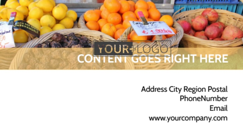 Local Produce Market Business Card Template Preview 3