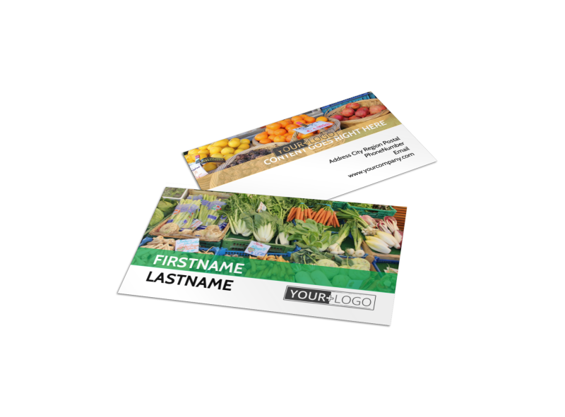 Local Produce Market Business Card Template Preview 1