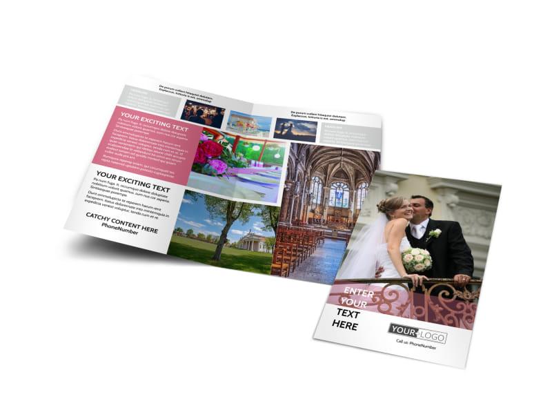 Wedding Venue Bi-Fold Brochure Template