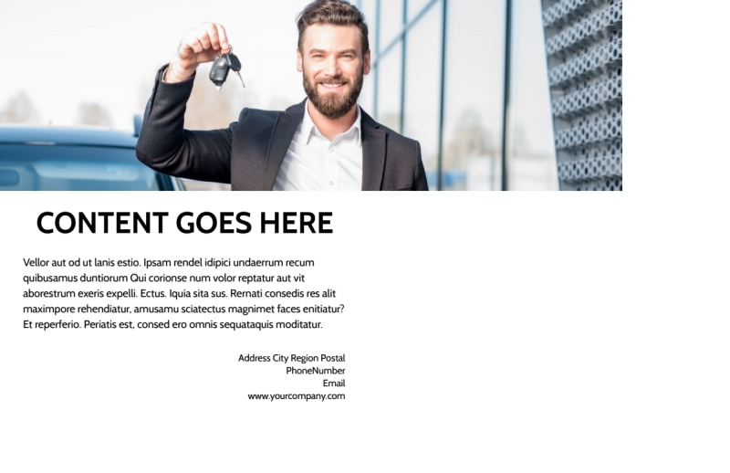 Luxury Auto Dealer Postcard Template Preview 3
