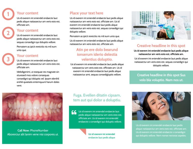Dental Surgery Brochure Template Preview 3