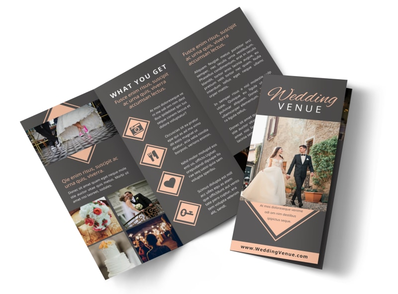 Wedding Venue Tri-Fold Brochure Template