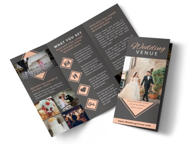 Wedding Venue Tri-Fold Brochure Template preview